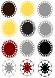Crachá do vetor ajustado na cor 3 diferente Imagens de Stock