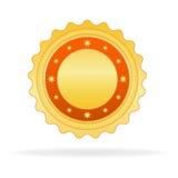 Crachá dourado Imagem de Stock