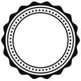 Crachá, elemento do selo Contorno do certificado circular, medalha ilustração stock