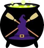 Crachá/emblema da bruxa Imagens de Stock Royalty Free