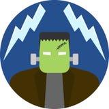 Crachá/emblema de Frankenstein Imagens de Stock