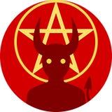 Crachá/emblema do demônio Fotografia de Stock Royalty Free