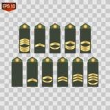 Crachá, exército, imagem do vetor do ícone da honra ilustração stock