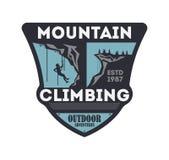 Crachá isolado vintage do alpinismo Fotos de Stock Royalty Free