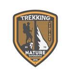 Crachá isolado vintage trekking da natureza Imagem de Stock Royalty Free
