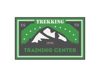 Crachá isolado vintage Trekking do centro de aprendizado Imagens de Stock Royalty Free