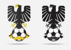 Crachá Logo Design do futebol ou do futebol para a equipa de futebol Fotografia de Stock