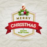 Crachá moderno do Natal Imagens de Stock Royalty Free