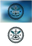 Crachá ou emblema náutico do artesão Fotos de Stock