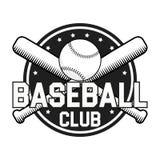 Crachá ou logotipo do basebol Ilustração do vetor no fundo branco Foto de Stock