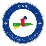 Crachá patriótico circular de República Centro-Africana ilustração stock
