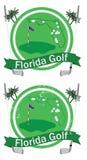 Crachá retro do golfe de florida Fotografia de Stock