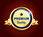Crachá superior dourado da qualidade ilustração royalty free
