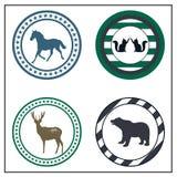 Crachás animais Imagens de Stock Royalty Free