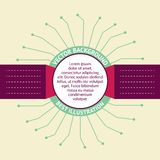 Crachás de Infographic. Imagens de Stock