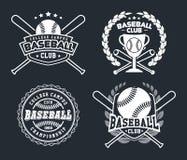 Crachás do basebol e etiquetas, esporte Logo Design ilustração stock