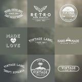 Crachás do vetor do vintage Foto de Stock Royalty Free
