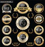 Crachás e coleção retros de prata superiores e luxuosos das etiquetas Imagem de Stock Royalty Free