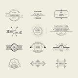 Crachás e elementos das etiquetas Fotografia de Stock Royalty Free