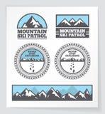 Crachás e etiquetas da montanha Imagens de Stock Royalty Free