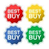 Crachás lisos do estilo de Best Buy ilustração do vetor