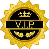 Crachá do ouro do VIP Imagens de Stock Royalty Free