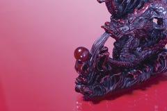 Crachement rouge de dragon Image stock