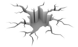 Crack. This is a 3D rendered picture vector illustration