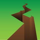 Crack. Illustration of a crack on nature royalty free illustration