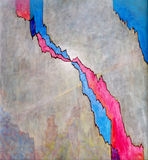 Crack - an abstract painting. An abstract painting on the general theme of a crack or rent Royalty Free Stock Images