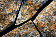 Crack ancient stone Stock Images