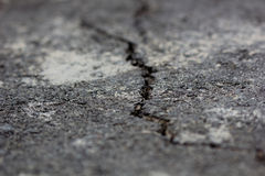 Crack on asphalt royalty free stock image