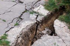 The crack asphalt paving. Stock Images