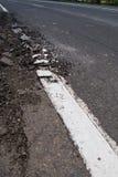 Crack of asphalt road Stock Images