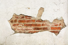 Crack brick wall background Stock Photos