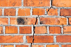 The crack in the brick wall Stock Photo