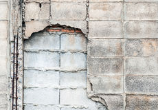 Crack brick wall. Near the urban town in Thailand Royalty Free Stock Photography