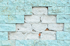 Crack brick wall Stock Image