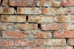 The crack in the brick wall. Royalty Free Stock Images