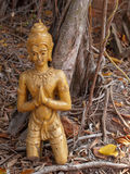 Crack buddha statue on the ground. Old crack buddha statue on the ground Stock Photography