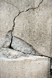 Crack cement concrete Royalty Free Stock Images