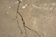 Crack cement floor texture. Natural Disasters Eatrhquake Stock Photography