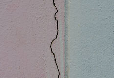 Crack on cement wall of old building. Stock Photography