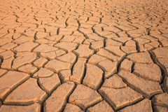 Crack clay. Dry land Royalty Free Stock Image