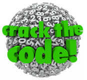 Crack the Code Number Sphere Breaking Password Security Stock Photography