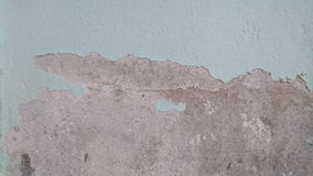 Crack colour paint on wall after flood Stock Images