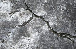 Crack in the concrete floor. Stock Photo