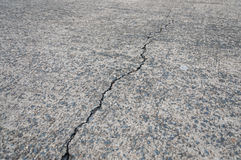 Crack on concrete road texture Royalty Free Stock Photography