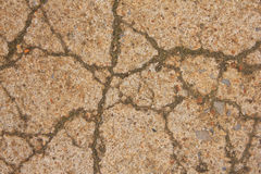 Crack on concrete Stock Images