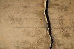Crack in concrete wall Stock Photos
